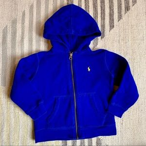 [polo] blue hoodie 4T